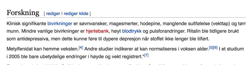 Wikipedia om ritalin.